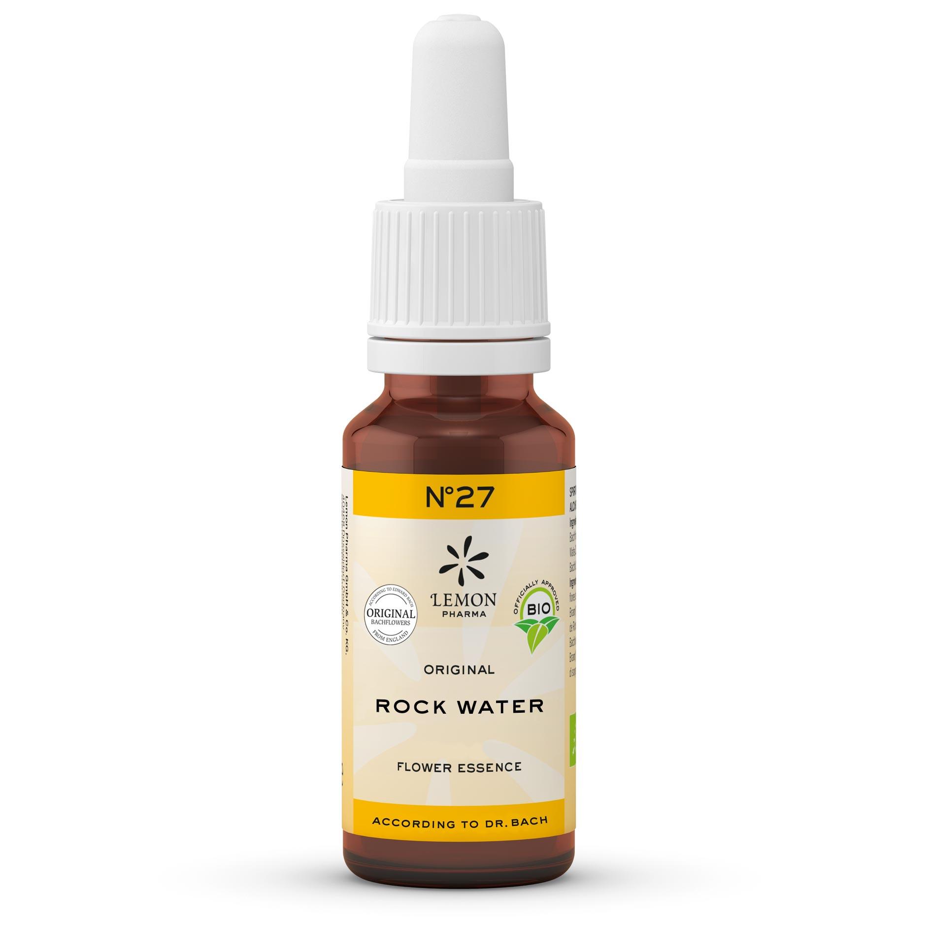 Lemon Pharma Gouttes Fleurs de Bach Original n°27 Rock Water Eau de Roche Légèreté