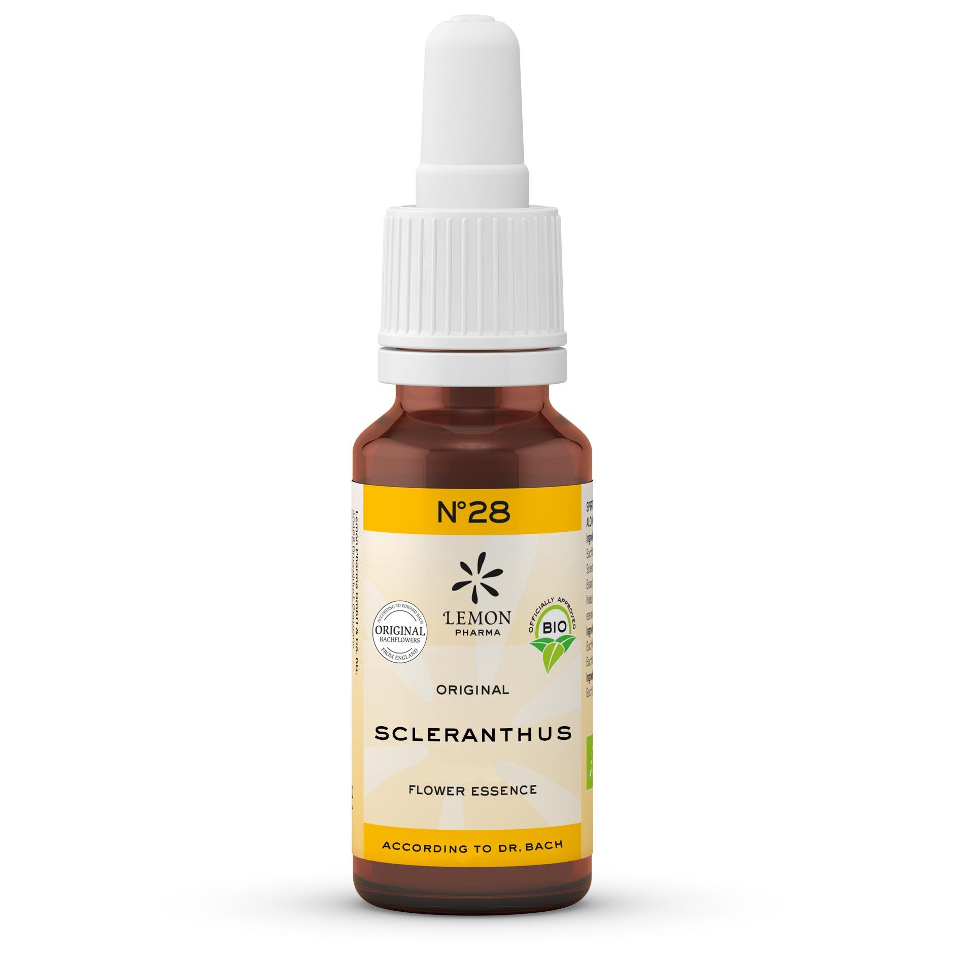 Lemon Pharma Gouttes Fleurs de Bach Original n°28 Sclerantur Scléranthe Équilibre intérieur