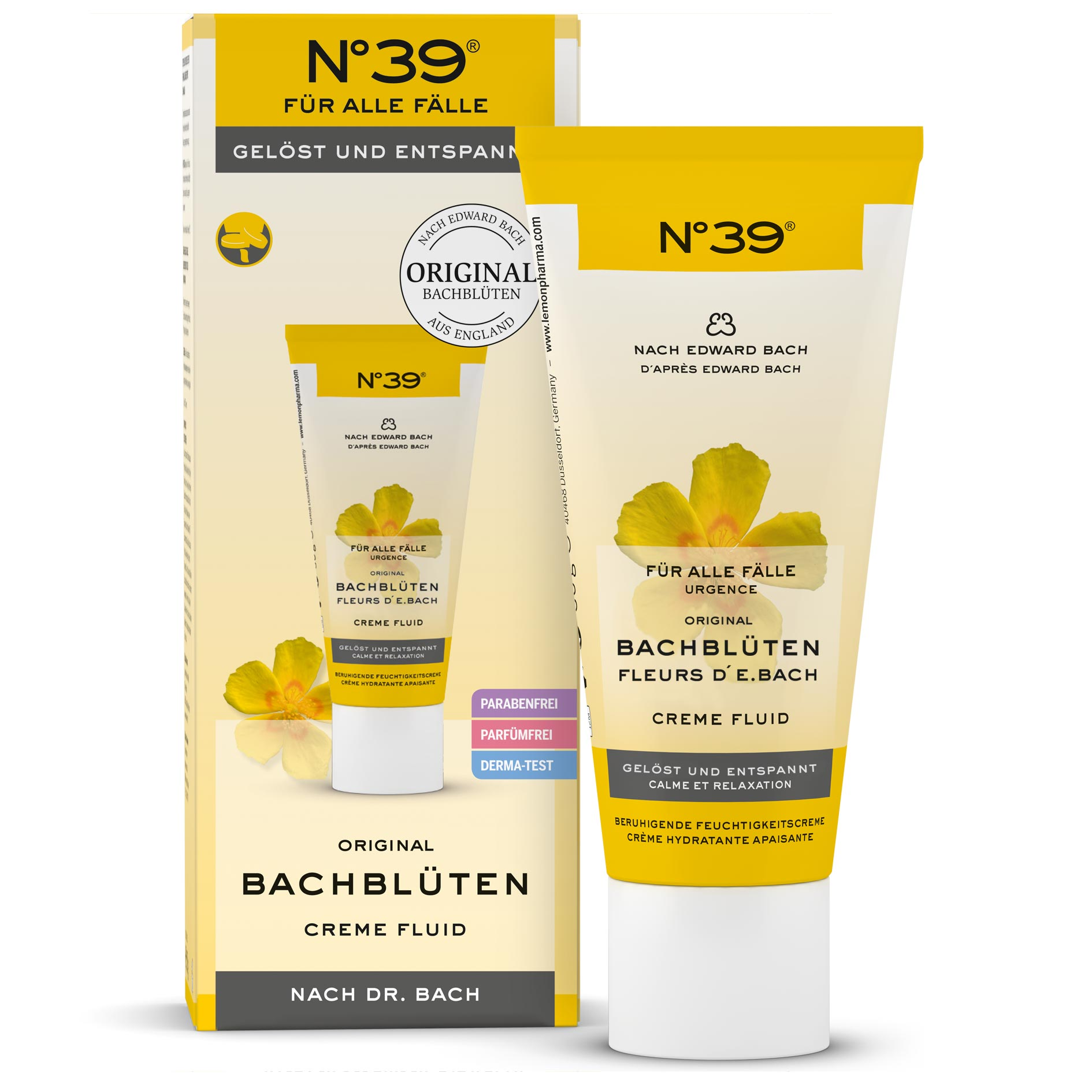 Creme Fluid 39 Urgences Lemon Pharma Original Fleurs de Bach bach flower sans parfums, sans paraben