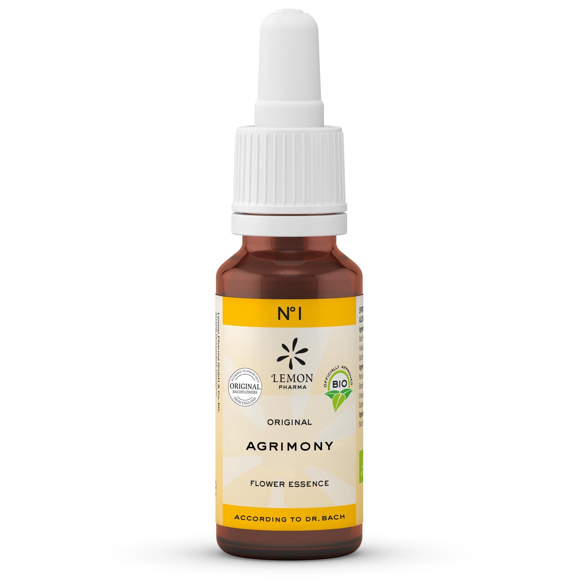 Lemon Pharma Original Bachblüten Tropfen Nr 1 Agrimony Odermennig Aufrichtigkeit