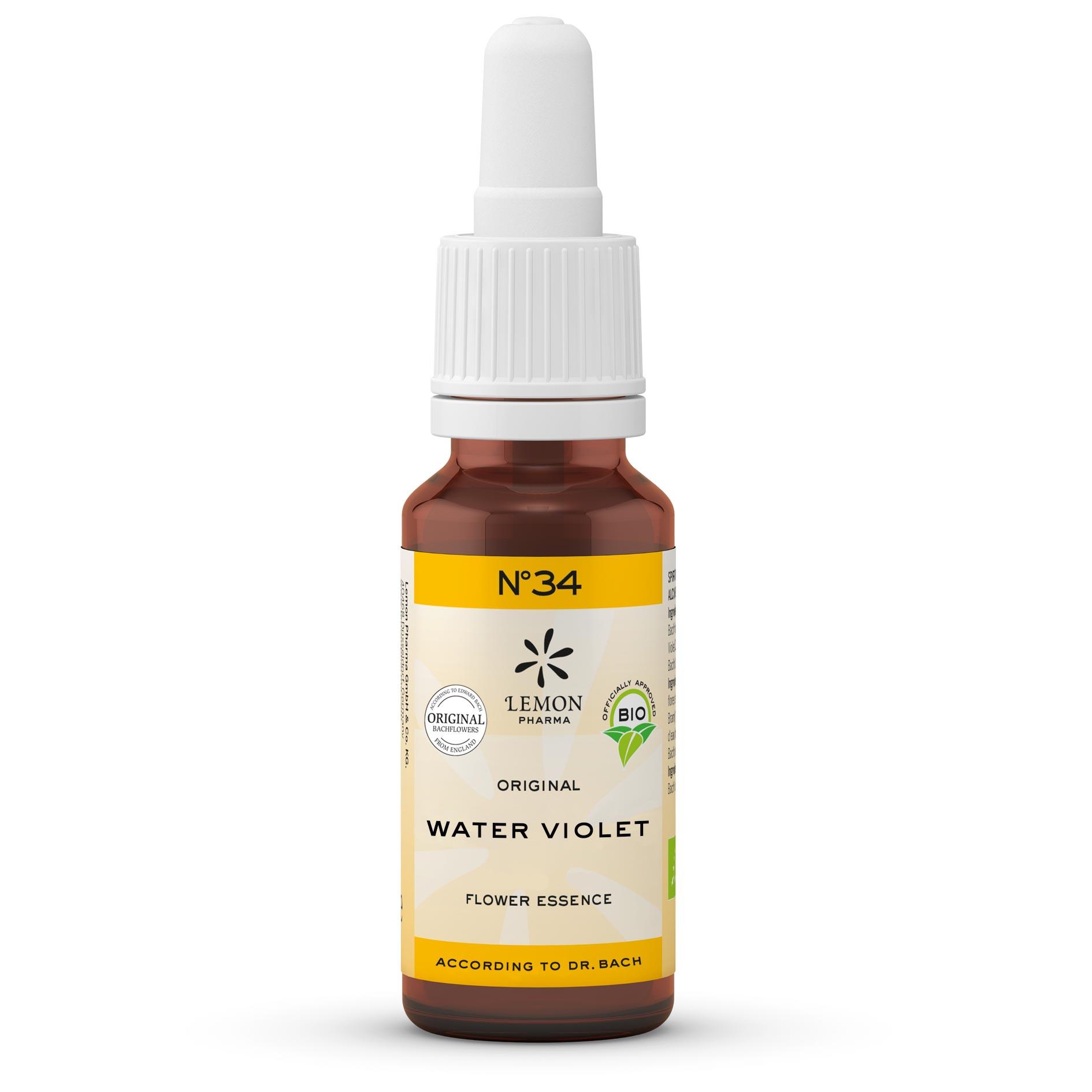 Lemon Pharma Gouttes Fleurs de Bach Original n°34 Water Violet Violette d'eau Solidarité