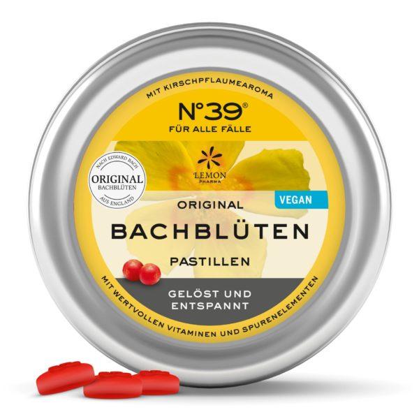 Pastilles 39 Urgences For Emergencies Lemon Pharma Original Fleurs de Bach bach flower rescue